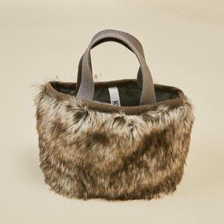MOUN TEN. / ffur mini bag / charcoal