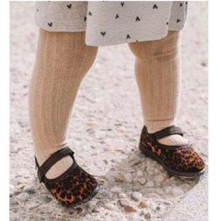 CIENTA / Velor one strap shoes / leopard