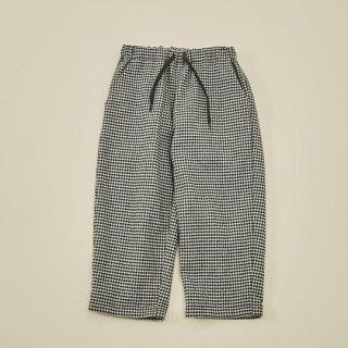 MOUN TEN. / cotton tweed pants / black