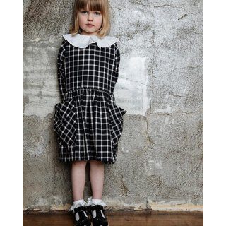 AS WE GROW / POCKET DRESS / Navy Checked