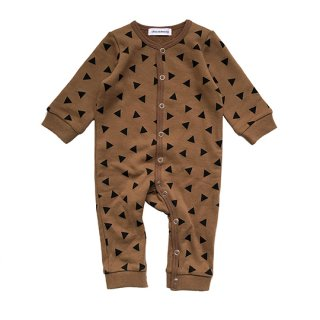 chocolatesoup / GEOMETRY SWEAT ROMPERS / TRIANGLE / BROWN