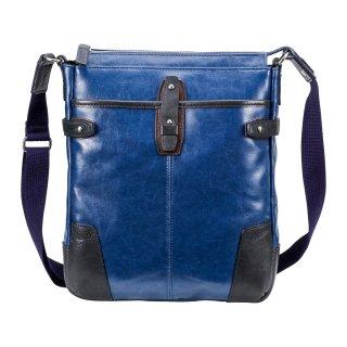 豊岡鞄 帆布PU×皮革ショルダー(24-128)
