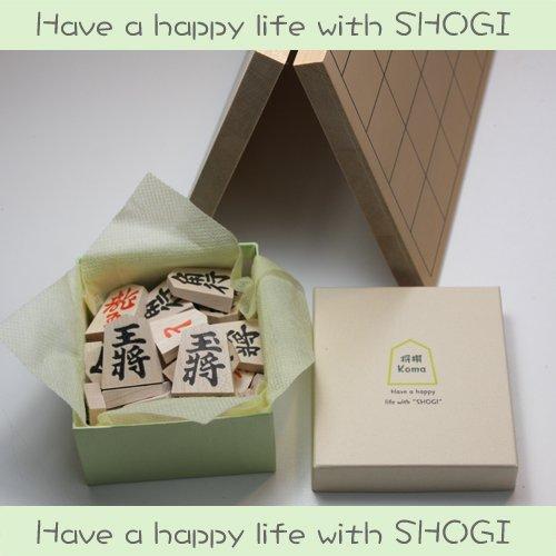 Have a happy life with SHOGI 将棋セット お洒落な箱入 裏赤