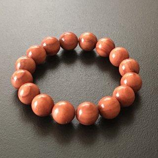 チューリップウッドの数珠ブレスレット(木珠,12mm珠)