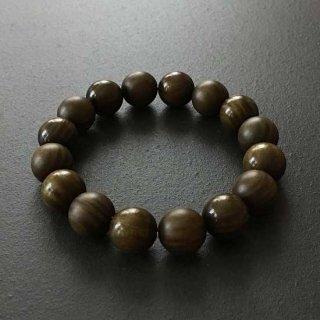 リグナムバイタの数珠ブレスレット(木珠,16mm珠)