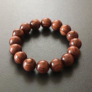 キングウッドの数珠ブレスレット(木珠,12mm珠)