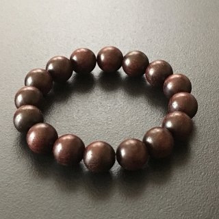 紅木の数珠ブレスレット(木珠,12mm珠)