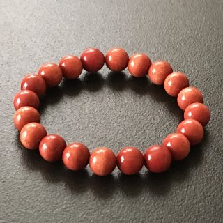ピンクアイボリーの数珠ブレスレット(木珠,8mm珠)