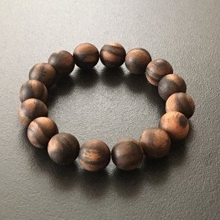黒柿の数珠ブレスレット(木珠,12mm珠)