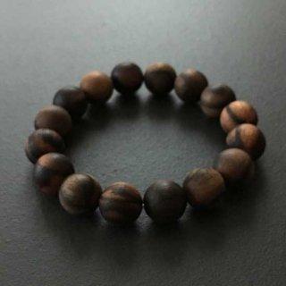 黒柿の数珠ブレスレット(木珠,16mm珠)