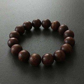 スネークウッドの数珠ブレスレット(木珠,16mm珠)木のブレスレット