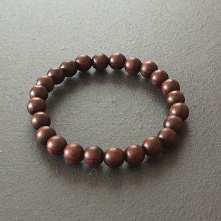 紅木の数珠ブレスレット(木珠,8mm珠)木のブレスレット
