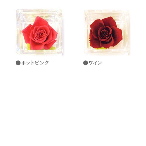 ガラスキューブS(ピンク・レッド系)