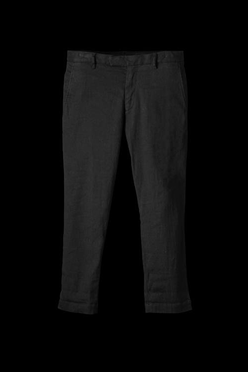 STRETCH-LINENCOTTON GARMENT-WASH TAPERED PANTS