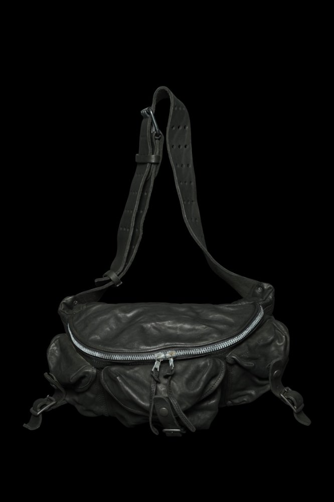 DOUBLE SHOULDER GARMENT-DYED 3PIN-BELT SHOULDER BAG