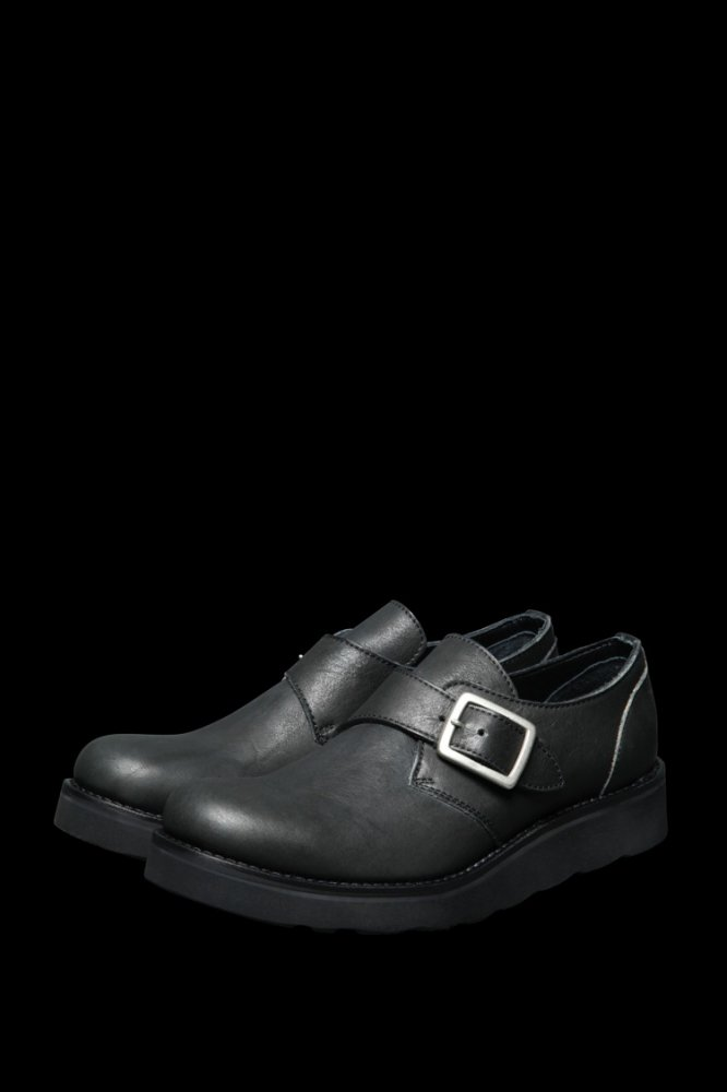 JP SHOULDER GARMENT-DYED SINGLE MONK STRAP SHOES