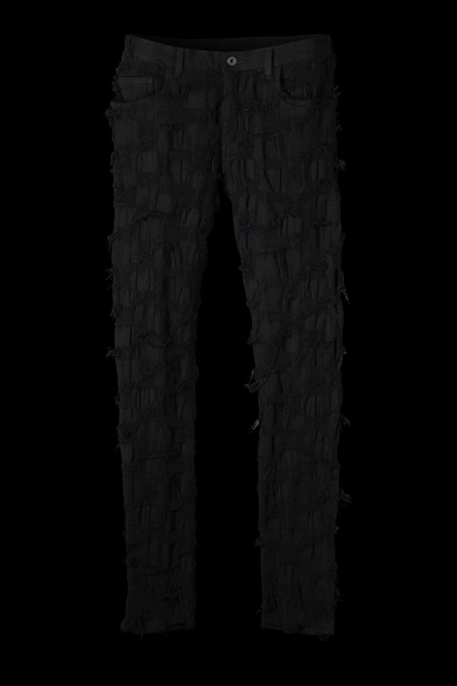 CRUST STRETCH BLOCK-JACQUARD PANTS