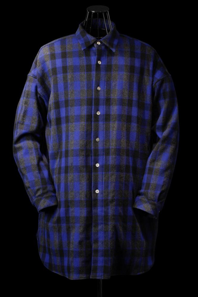 WOOL CHECK OVER SHIRT