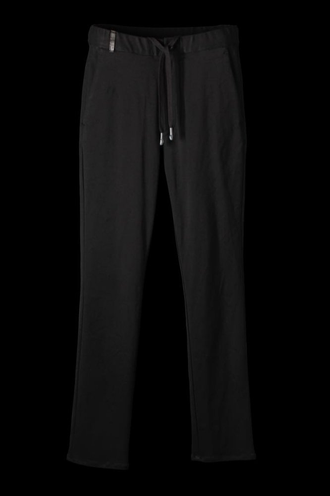 STRETCH RAYON-SILK EASY PANTS