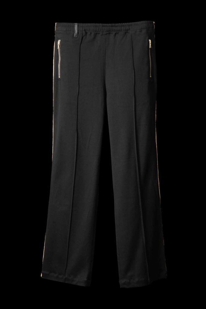 STRETCH RAYON-SILK TRACK PANTS