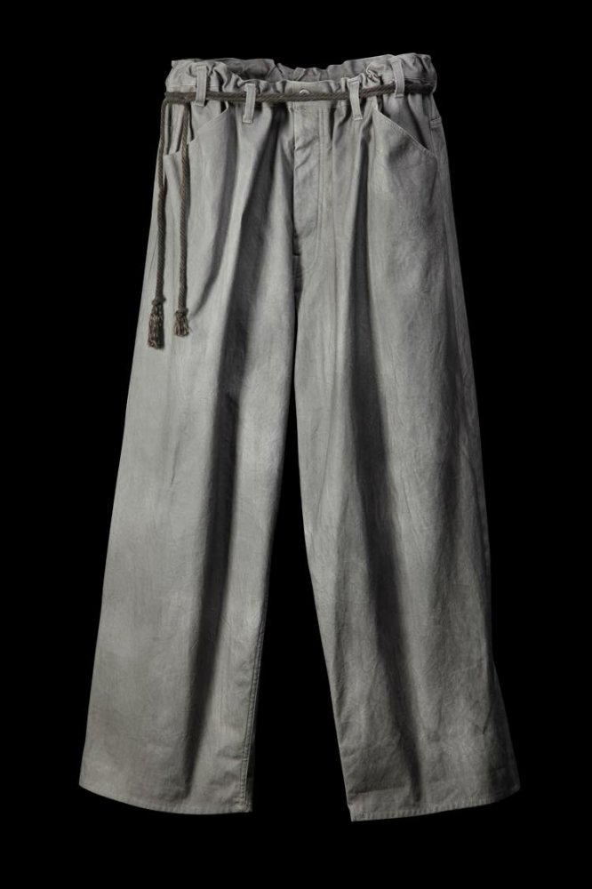 "COTTON CANVAS ""PIGMENT DYE"" WIDE PANTS"