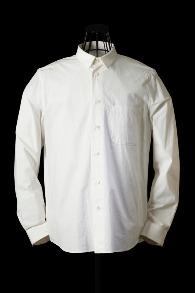 COTTON TYPEWRITER CLOTH REGULAR-SILHOUETTE SHIRT