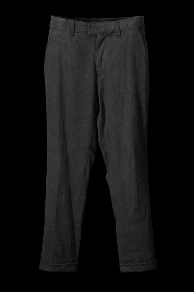 "STRETCH LINEN OX ""FABRIC-DYED"" PANTS ""TAPERED"""