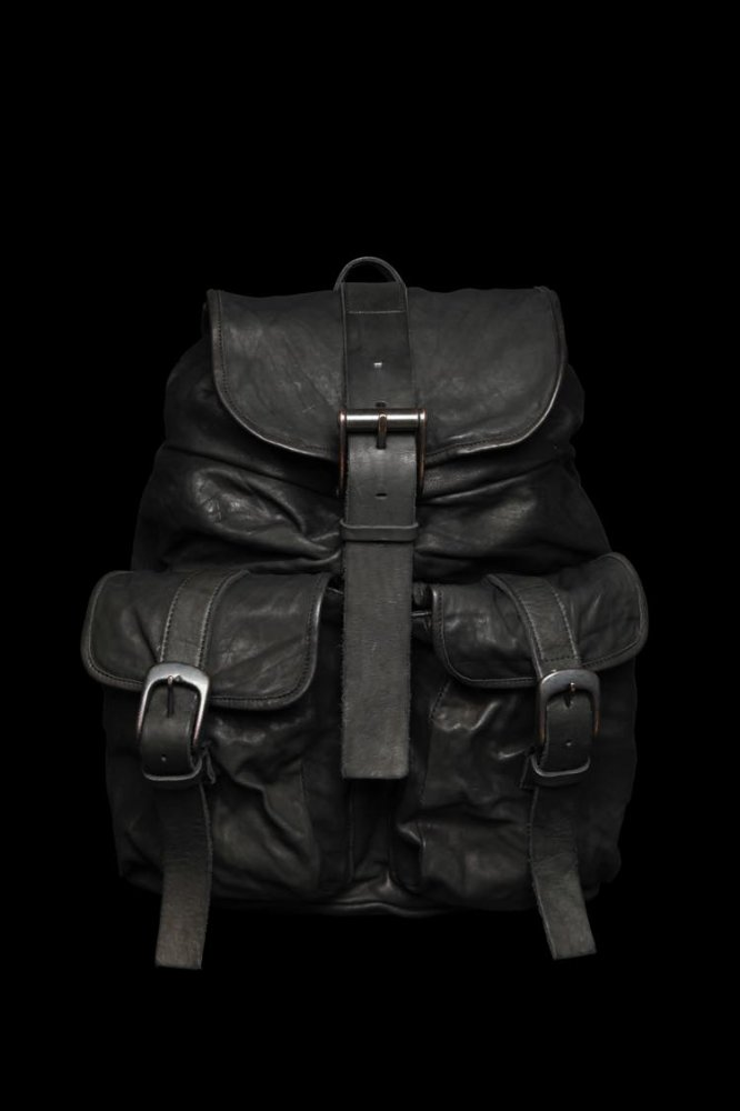 DOUBLE SHOULDER GARMENT-DYED BACKPACK