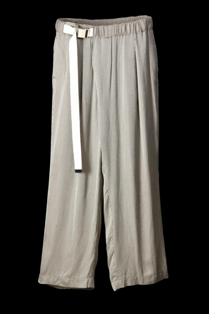 "RAYON WRAP FRONT PANTS ""WIDE"""