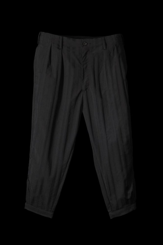 "POLYESTER-RAYON CODE STRIPE PANTS ""TAPERED CROPPED"""