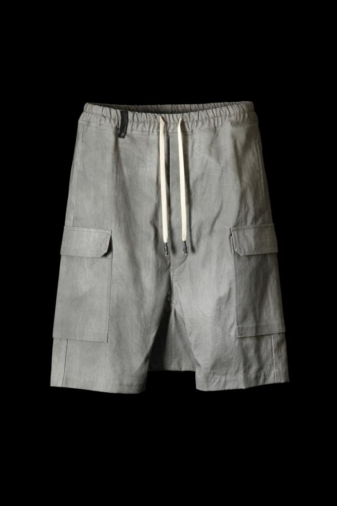 "COTTON CANVAS ""PIGMENT DYE"" PANTS ""SARROUEL SHORT"""