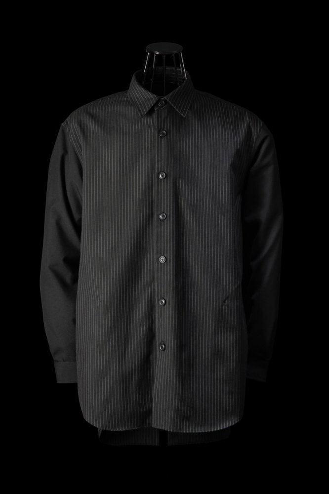 RAYON-POLYESTER OVERFITTING SHIRT L/S