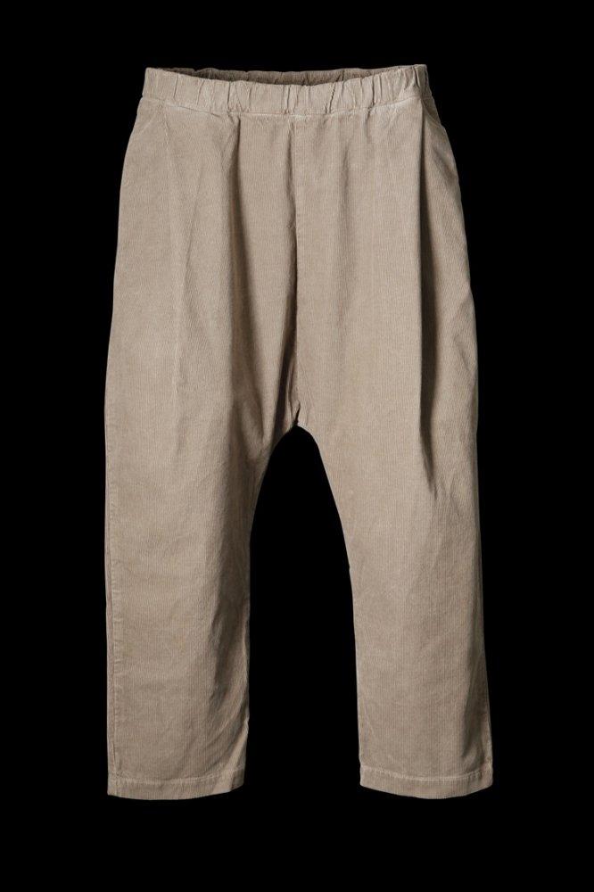 CORDUROY GARMENT-DYED SARROUEL PANTS
