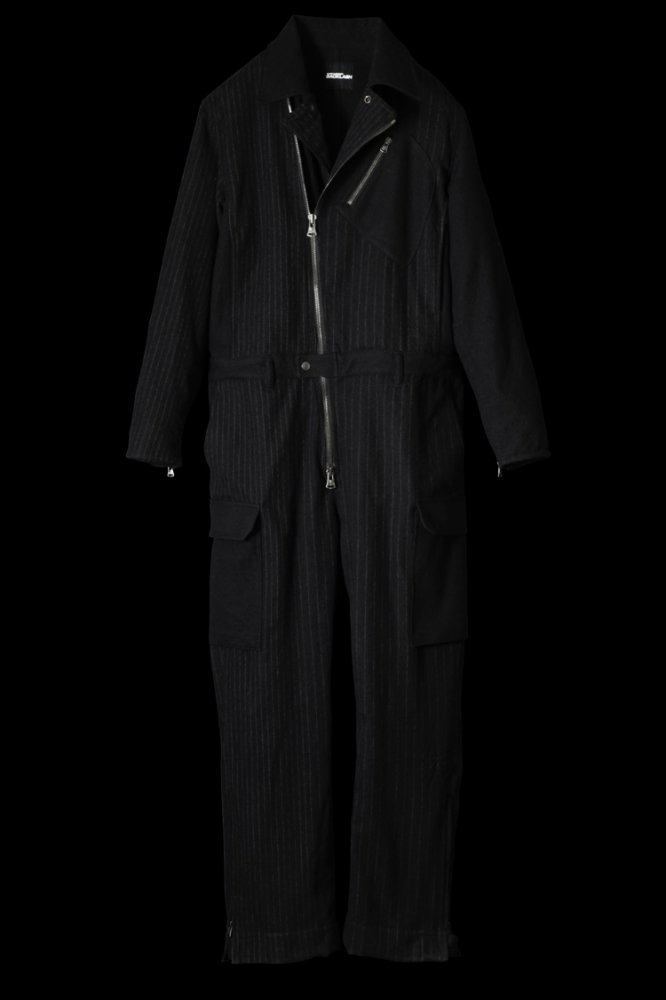 COMPRESSION WOOL RANDOM STRIPE JUMP SUIT