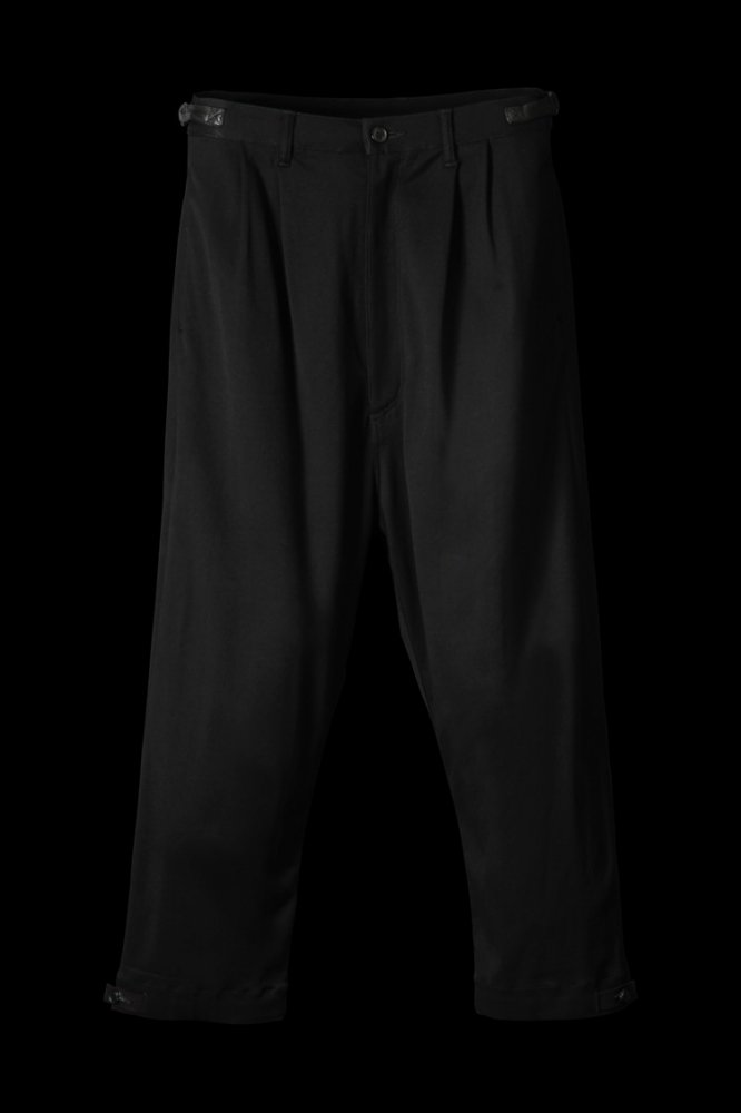 STRETCH RAYON-SILK WIDE TAPERED PANTS