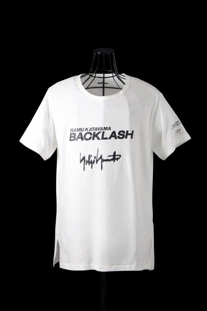ISAMU KATAYAMA BACKLASH x Yohji Yamamoto LOGO Tshirt