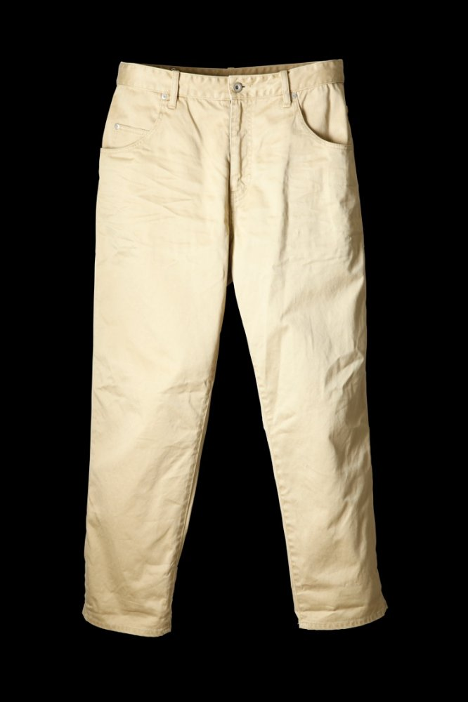 "COTTON CHINO CLOTH PANTS ""TAPERED"""