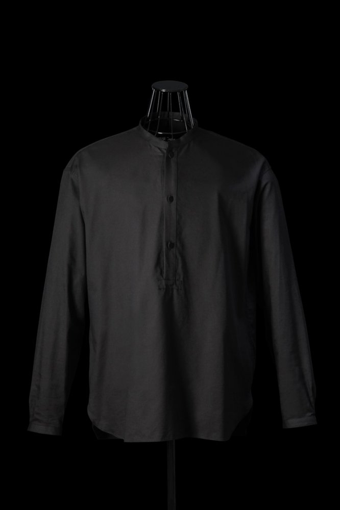 SAPPHIRE COOL COTTON-RAYON PULLOVER SHIRT