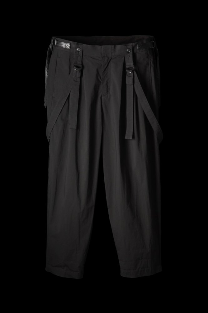 STRETCH TYPEWRITER CLOTH SUSPENDER PANTS
