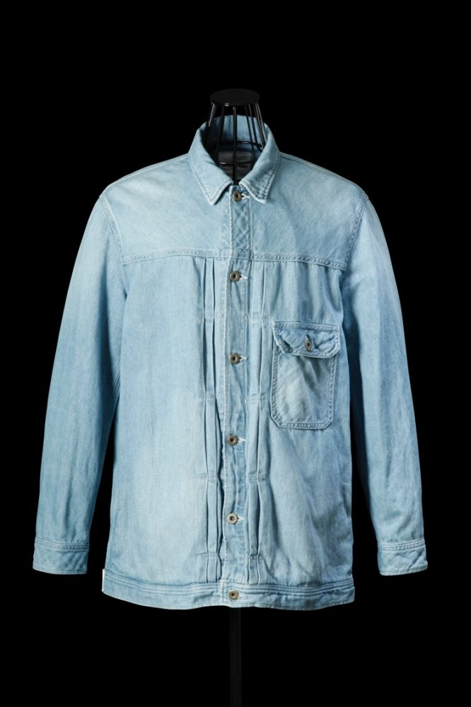 COTTON-LINEN DENIM OVERFITTING G-JACKET