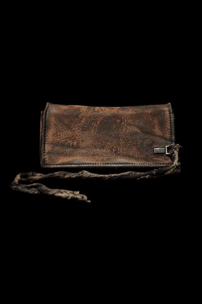 CRAFTED BY RESURRECTION GARMENT-DYED RUST EQUIPMENT 2FOLD LONG WALLET