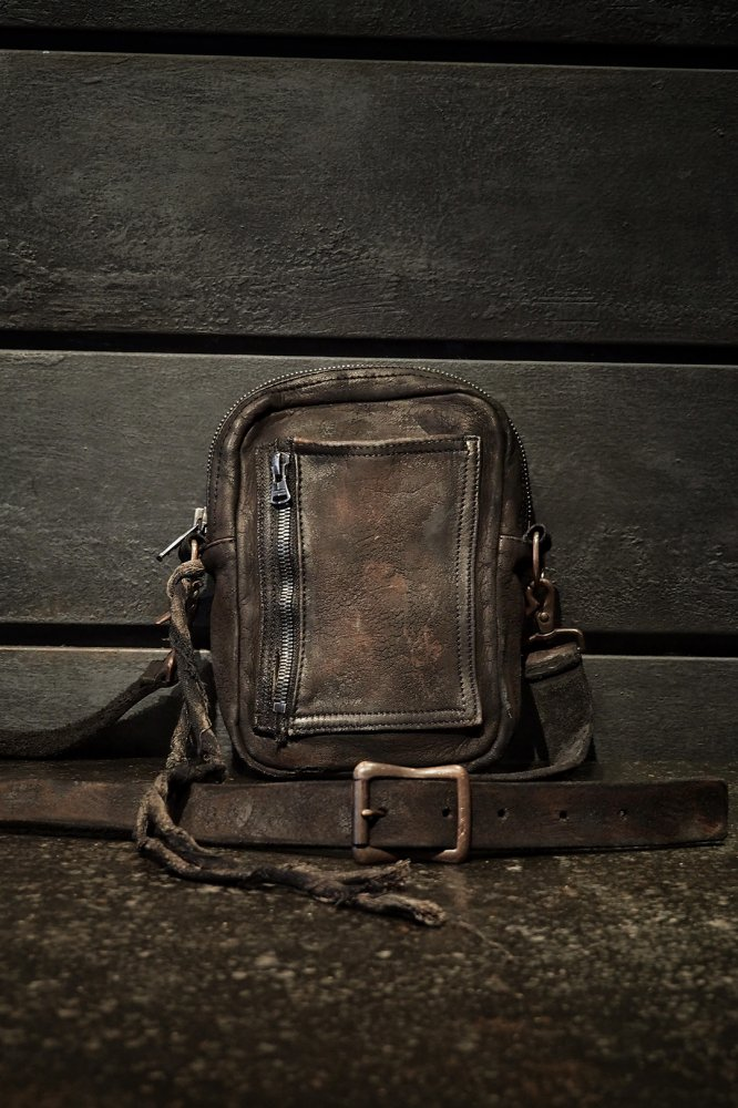 CRAFTED BY RESURRECTION GARMENT-DYED RUST EQUIPMENT MINI-SHOULDER BAG