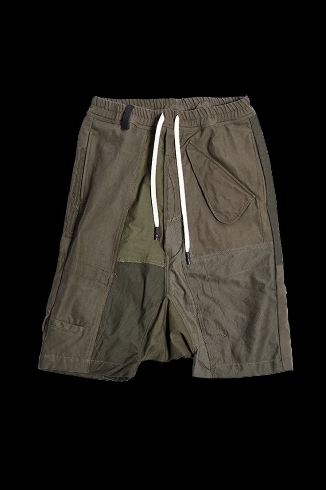 xx LOOM EXCLUSIVE THE RE-BUILD VINTAGE CUSTOM SARROUEL SHORTS (ARMY FIELD-A)