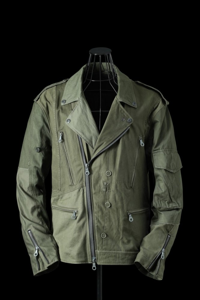 xx LOOM EXCLUSIVE THE RE-BUILD VINTAGE CUSTOM DOUBLE RIDERS JACKET (ARMY FIELD-B)