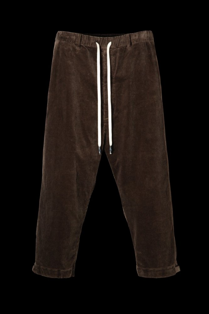 STRETCH CORDUROY WIDE TAPERED PANTS