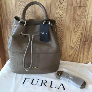 フルラ ショルダーバッグ FURLA Brooklyn ミディアム 巾着バッグ ショルダー ダイノ