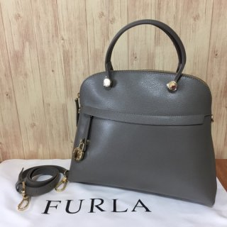 フルラ ハンドバッグ FURLA PIPER M ドームサッチェル 904138 ARGILLA