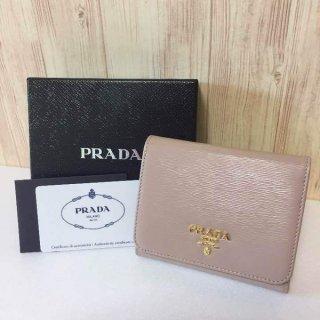 プラダ 財布 PRADA サフィアーノ 三つ折り カメオ VITELLO MOVE