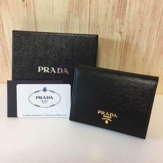 プラダ 財布 PRADA サフィアーノ 二つ折り NERO ブラック VITELLO MOVE