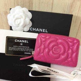 シャネル コインケース CHANEL カメリア 限定商品 ピンク